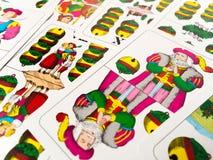 Abaissez Jack d'Allemand de tintements du carillon jouant des cartes Photos libres de droits