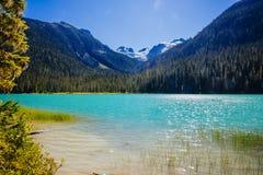 Abaissez Joffre Lake, Joffre Lake Provincial Park, AVANT JÉSUS CHRIST, Canada Photographie stock libre de droits