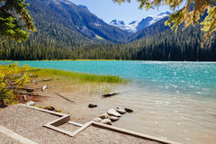 Abaissez Joffre Lake, Joffre Lake Provincial Park, AVANT JÉSUS CHRIST, Canada Photo stock