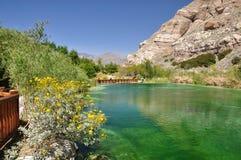 Abaissez l'étang de Whitewater Images stock