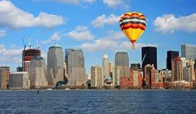 abaissez l'horizon de Manhattan Photographie stock