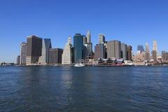 abaissez l'horizon de Manhattan Images libres de droits