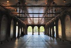 Abaissez la canalisation à la terrasse de Bethesda dans Central Park Images stock