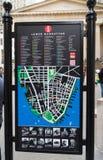 Abaissez la carte de Manhattan Photo stock