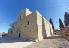 Abaissez la Galilée, Israël - 18 février 2017 Monastère orthodoxe de la transfiguration du seigneur au bâti le Thabor dedans Images libres de droits