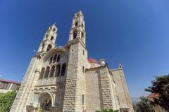 Abaissez la Galilée, Israël - 18 février 2017 Monastère orthodoxe de la transfiguration du seigneur au bâti le Thabor dedans Photos libres de droits