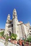 Abaissez la Galilée, Israël - 18 février 2017 Monastère orthodoxe de la transfiguration du seigneur au bâti le Thabor dedans Photographie stock