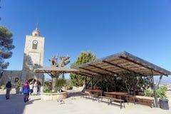 Abaissez la Galilée, Israël - 18 février 2017 Monastère orthodoxe de la transfiguration du seigneur au bâti le Thabor en Israël Photographie stock