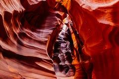 Abaissez la gorge d'antilope Roches de grès de page, Arizona Etats-Unis Image libre de droits