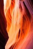 Abaissez la gorge de fente d'antilope Image stock