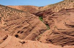 Abaissez la gorge de fente, vallée d'antilope, page, Arizona Images stock