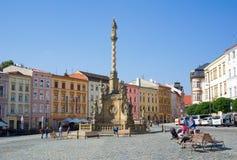 Abaissez la place à Olomouc Photo libre de droits