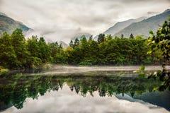 Abaissez la République bleue de Tserik-Kul Kabardino-Balkarie de lac Images stock