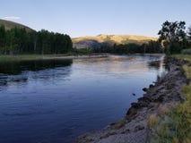 Abaissez la rivière Clark Fork Photo stock