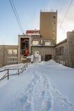 Abaissez la station de funiculaire sur Lomnica Photos libres de droits