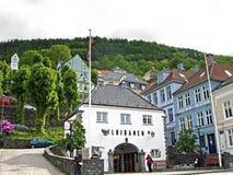 Abaissez la station du Floibanen à Bergen, Norvège Photo stock
