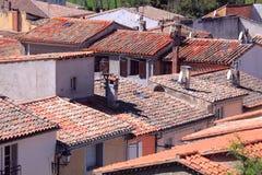 Abaissez la ville, Carcassonne Image stock