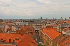 Abaissez la ville de la partie historique de Zagreb, Croatie Photographie stock libre de droits