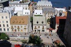 Abaissez la ville de vieux Québec, Canada Photos libres de droits