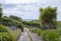 Abaissez la ville, St Martin, îles de Scilly, Angleterre Photo stock