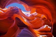 Abaissez la vue de canyon d'antilope près de la page, Arizona Photos stock