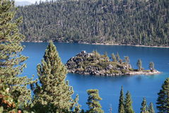 Abaissez Lake Tahoe Photo libre de droits