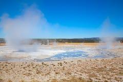 Abaissez le bassin de geyser Photos libres de droits