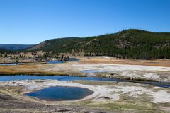 Abaissez le bassin de geyser Photos stock