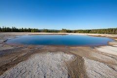 Abaissez le bassin de geyser Photo stock