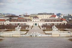 Abaissez le belvédère à Vienne Images libres de droits