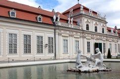 Abaissez le belvédère, Vienne Photo libre de droits