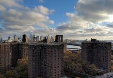 Abaissez le côté est New York Images libres de droits