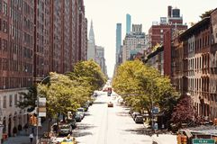 Abaissez le côté Ouest Manhattan Photo libre de droits
