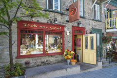 Abaissez le Canada de Québec Photos libres de droits