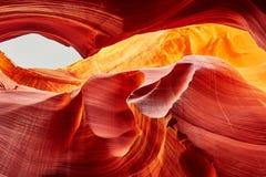 Abaissez le canyon d'antilope, Arizona, Etats-Unis Photo libre de droits