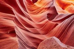 Abaissez le canyon d'antilope dans la réservation de Navajo près de la page, Arizona Etats-Unis Photographie stock libre de droits