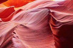Abaissez le canyon d'antilope dans la réservation de Navajo près de la page, Arizona Etats-Unis Photos stock