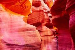 Abaissez le canyon d'antilope près de la page, Arizona, Etats-Unis Image libre de droits