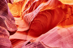 Abaissez le canyon d'antilope près de la page, Arizona, Etats-Unis Photo stock