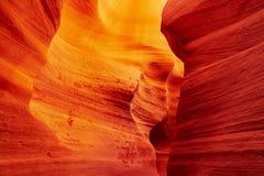 Abaissez le canyon d'antilope près de la page, Arizona, Etats-Unis Photographie stock