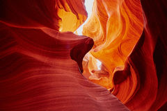 Abaissez le canyon d'antilope près de la page, Arizona, Etats-Unis Photos stock