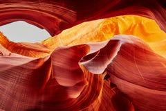 Abaissez le canyon d'antilope près de la page, Arizona, Etats-Unis Photographie stock libre de droits