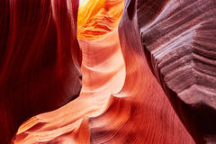 Abaissez le canyon d'antilope près de la page, Arizona, Etats-Unis Photos libres de droits