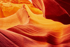 Abaissez le canyon d'antilope près de la page, Arizona, Etats-Unis Images libres de droits