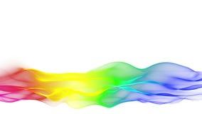 Abaissez le fond multicolore débordant d'abrégé sur tiers, mouvement de vague brouillé illustration libre de droits