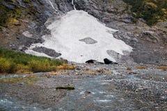 Abaissez le glacier de Supphellebreen Image stock