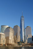 Abaissez le gratte-ciel de Manhattan Images stock