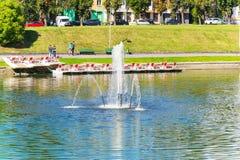 Abaissez le lac de Kaliningrad Photographie stock libre de droits
