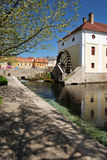 Abaissez le lac de moulin, Tapolca en Hongrie Photographie stock libre de droits