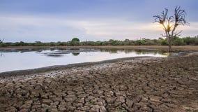 Abaissez le lac Sabie en parc national de Kruger, Afrique du Sud Images stock